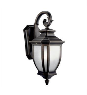 "Kichler 11002RZ Salisbury 1 Light 8"" Compact Fluorescent Outdoor Wall Sconce in Rubbed Bronze"