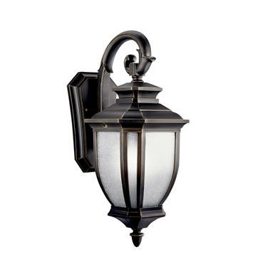 Kichler 11002RZ Salisbury Collection 1 Light Outdoor Wall Sconce in Rubbed Bronze