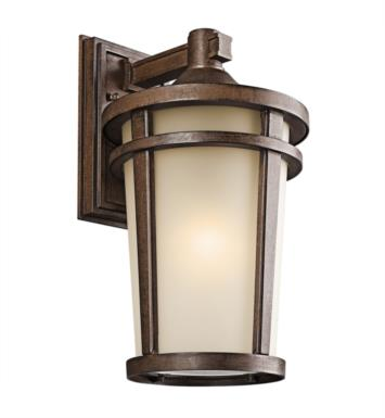 "Kichler 49073BST Atwood 1 Light 10"" Incandescent Outdoor Wall Sconce in Brown Stone"