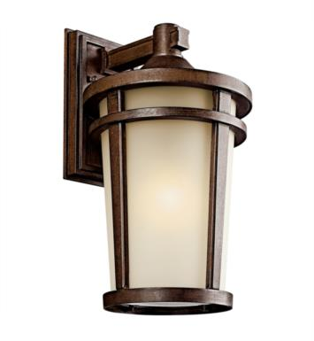 "Kichler 49073BSTFL Atwood 1 Light 10"" Fluorescent Outdoor Wall Sconce in Brown Stone"