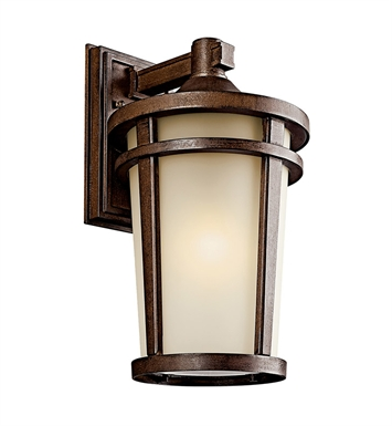 Kichler 49073BSTFL Atwood Collection 1 Light Outdoor Wall Sconce in Brown Stone