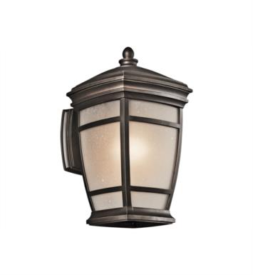 "Kichler 49271RZ McAdams 1 Light 8"" Incandescent Outdoor Wall Sconce in Rubbed Bronze"