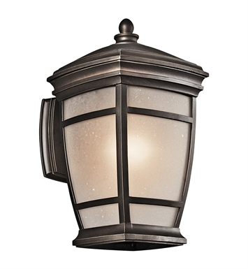 Kichler 49271RZ One Light Outdoor Wall Sconce in Rubbed Bronze