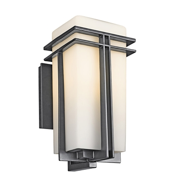 Kichler 49201BK Tremillo Collection 1 Light Outdoor Wall Sconce in Black (Painted)