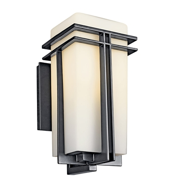Kichler 49201BKFL Tremillo Collection 1 Light Outdoor Wall Sconce in Black (Painted)