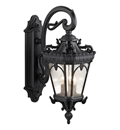 Kichler Tournai Collection 3 Light Outdoor Wall Sconce in Textured Black