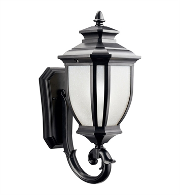 Kichler 9041BK Salisbury Collection 1 Light Outdoor Wall Sconce in Black (Painted)