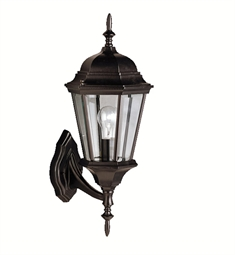 Kichler 9653BK One Light Outdoor Wall Sconce in Black (Painted)