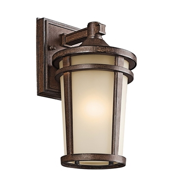 Kichler 49071BST Atwood Collection 1 Light Outdoor Wall Sconce in Brown Stone