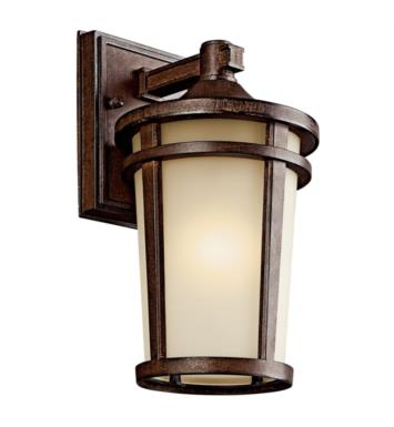 "Kichler 49071BSTFL Atwood 1 Light 6"" Fluorescent Outdoor Wall Sconce in Brown Stone"