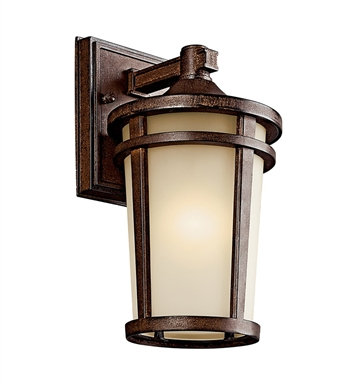 Kichler 49071BSTFL Atwood Collection 1 Light Outdoor Wall Sconce in Brown Stone