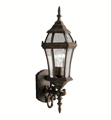 Kichler 9790TZ Townhouse Collection 1 Light Outdoor Wall Sconce in Black (Painted)