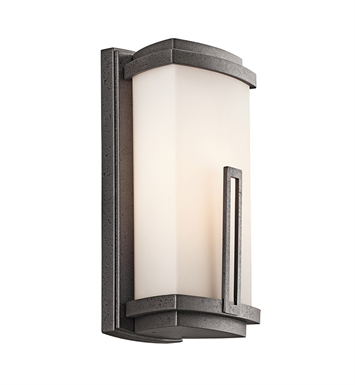 Kichler 49110AVI One Light Outdoor Wall Sconce in Anvil Iron