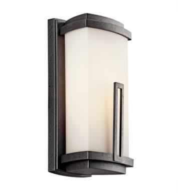 "Kichler 49110AVIFL Leeds 1 Light 5 3/4"" Fluorescent Outdoor Wall Sconce in Anvil Iron"