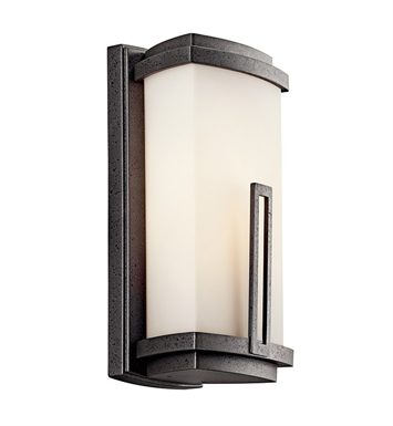 Kichler 49110AVIFL One Light Outdoor Wall Sconce in Anvil Iron