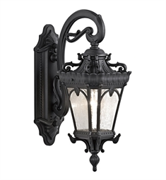 Kichler Tournai Collection 1 Light Outdoor Wall Sconce in Textured Black