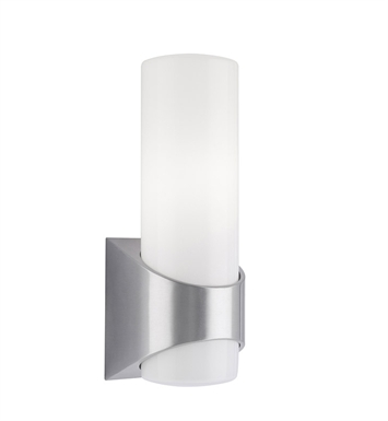 Kichler 9109BA Celino Collection 1 Light Outdoor Wall Sconce in Brushed Aluminum