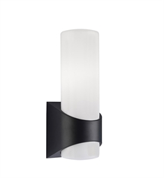 Kichler Celino Collection 1 Light Outdoor Wall Sconce in Black (Painted)