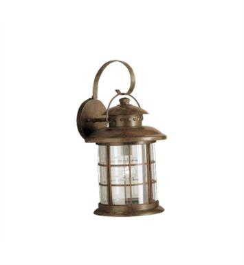"Kichler 9762RST Rustic 1 Light 11"" Incandescent Outdoor Wall Sconce in Rustic"