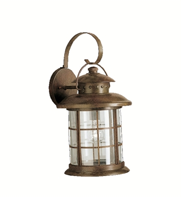 Kichler 9762RST Rustic Collection 1 Light Outdoor Wall Sconce in Rustic