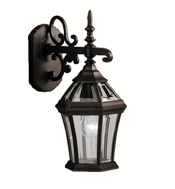 Kichler 9789BK Townhouse Collection 1 Light Outdoor Wall Sconce in Black (Painted)