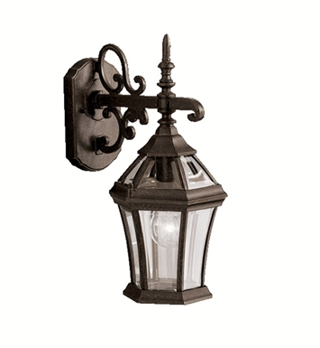 Kichler 9789TZ Townhouse Collection 1 Light Outdoor Wall Sconce in Tannery Bronze