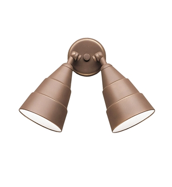 Kichler 6052AZ Two Light Outdoor Wall Sconce in Architectural Bronze