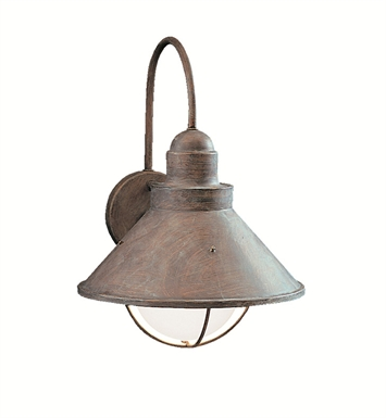 Kichler 9023OB Seaside Collection 1 Light Outdoor Wall Sconce in Olde Brick