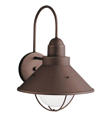 Kichler 9023OZ Seaside Collection 1 Light Outdoor Wall Sconce in Olde Bronze
