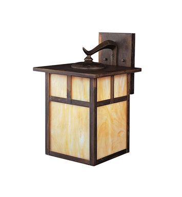 Kichler 9652CV Alameda Collection 1 Light Outdoor Wall Sconce in Brown