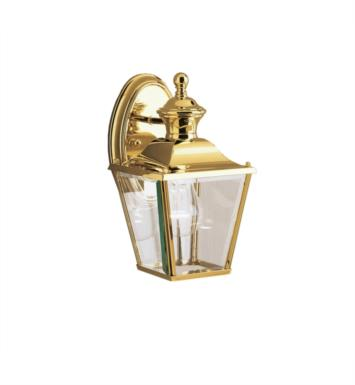 "Kichler 9711PB Bay Shore 1 Light 5 3/4"" Incandescent Outdoor Wall Sconce in Polished Brass"