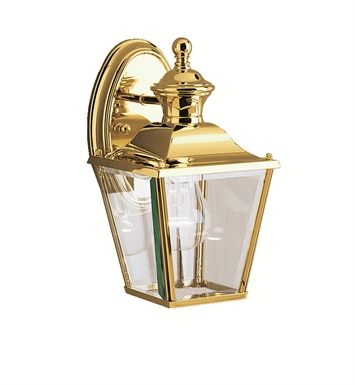 Kichler 9711PB Bay Shore Collection 1 Light Outdoor Wall Sconce in Polished Brass