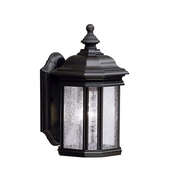 Kichler 9028BK One Light Outdoor Wall Sconce in Black (Painted)