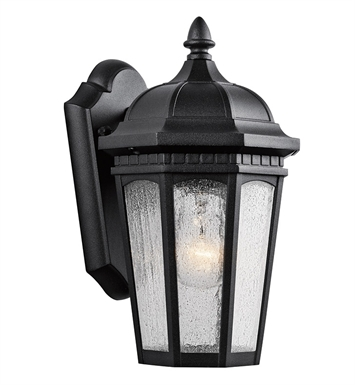 Kichler 9032BKT Courtyard Collection 1 Light Outdoor Wall Sconce in Textured Black
