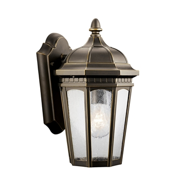 Kichler 9032RZ Courtyard Collection 1 Light Outdoor Wall Sconce in Rubbed Bronze