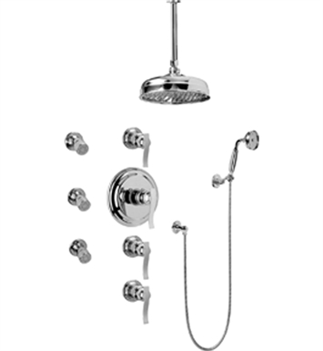 Graff GA1.221B-LM20S Traditional Thermostatic Set with Body Sprays and Handshower
