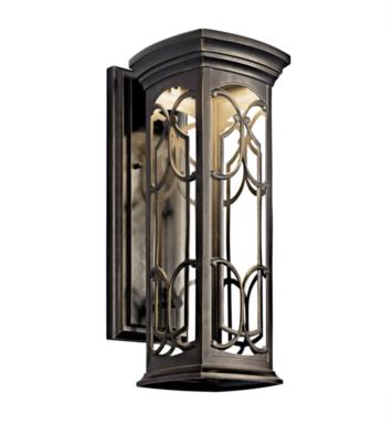 "Kichler 49227OZLED Franceasi 1 Light 7"" LED Outdoor Wall Sconce in Olde Bronze"