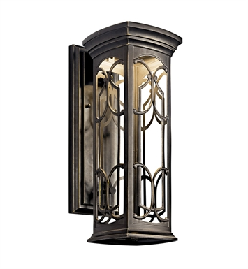 Kichler 49227OZLED Franceasi Collection 1 Light Outdoor Wall Sconce in Olde Bronze