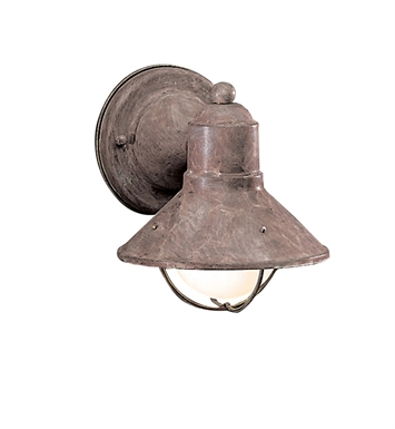 Kichler 9021OB Seaside Collection 1 Light Outdoor Wall Sconce in Olde Brick