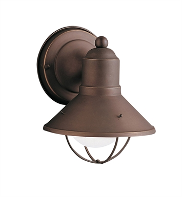 Kichler 9021OZ Seaside Collection 1 Light Outdoor Wall Sconce in Olde Bronze