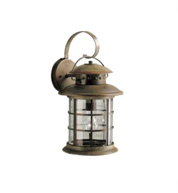 "Kichler 9761RST Rustic 1 Light 9 1/2"" Incandescent Outdoor Wall Sconce in Rustic"