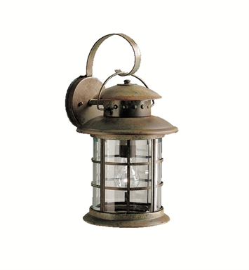 Kichler 9761RST Rustic Collection 1 Light Outdoor Wall Sconce in Rustic