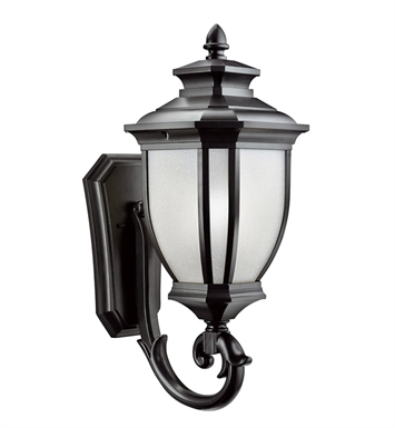 Kichler 9042BK Salisbury Collection 1 Light Outdoor Wall Sconce in Black (Painted)