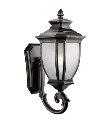 Kichler 9042RZ Salisbury Collection 1 Light Outdoor Wall Sconce in Rubbed Bronze