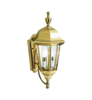 "Kichler 9439PB Grove Mill 2 Light 9 1/2"" Incandescent Outdoor Wall Sconce in Polished Brass"