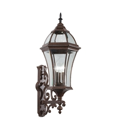Kichler Townhouse Collection 3 Light Outdoor Wall Sconce in Tannery Bronze
