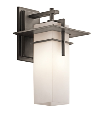 Kichler 49643OZ Caterham Collection 1 Light Outdoor Wall Sconce in Olde Bronze