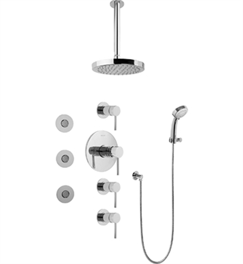 Graff GB1.131A-LM37S Contemporary Round Thermostatic Set with Body Sprays and Handshower