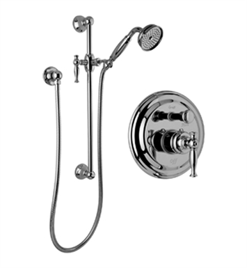 Graff G-7117-LM22S-SN Traditional Pressure Balancing Shower Set with Handshower and Slide Bar With Finish: Steelnox (Satin Nickel)
