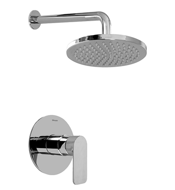 Graff G-7230-LM42S-PC/BK Full Pressure Balancing System Shower With Finish: Architectural Black w/ Chrome Accents